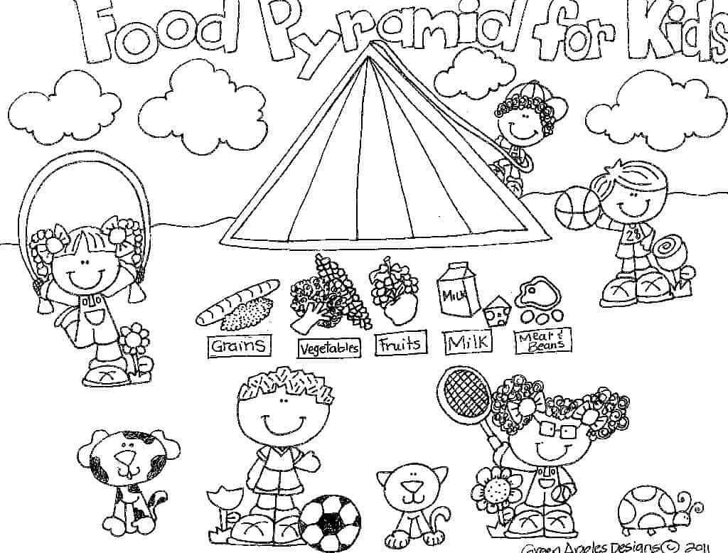 Best Healthy Foods Coloring Pages Contemporary Coloring Page