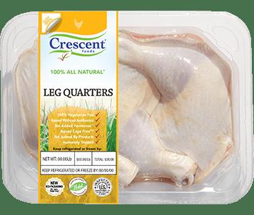 Crescent Foods Premium Halal Chicken Leg Quarters in package