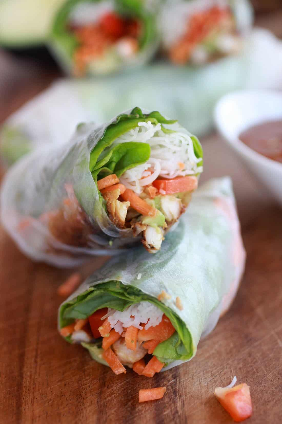 Avocado and Vietnamese Chicken Spring Rolls - Crescent ...