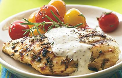 Grilled Chicken with Rustic Mustard Cream
