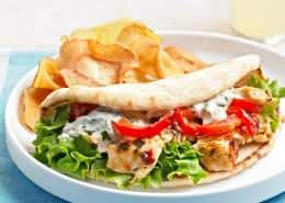 Skillet Chicken Salad Pitas
