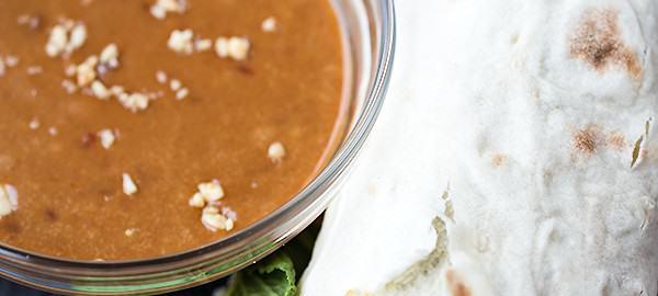 """Thai-Style Peanut Chicken """"Spring Roll"""" Wraps"""