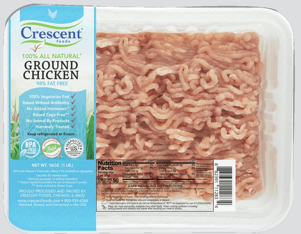 Ground Chicken in Packaging