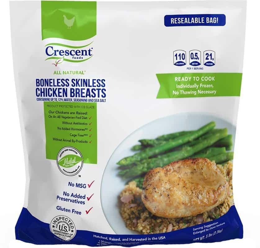 Crescent Foods Boneless Skinless Individually Frozen Chicken Breasts