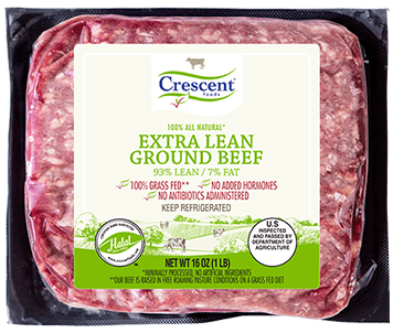 Extra Lean Ground Beef in packaging