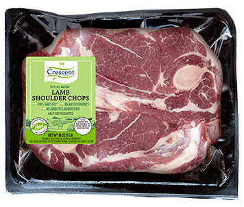Crescent Foods Premium Halal Hand-Cut™ Lamb Shoulder Chop