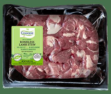 Halal Boneless Lamb Stew Meat in Packagin