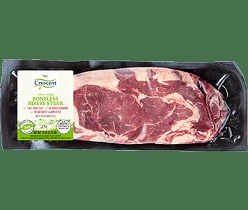 Crescent Foods Ribeye Steak in Packaging